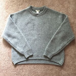H&M Gray Thick Knit Sweater